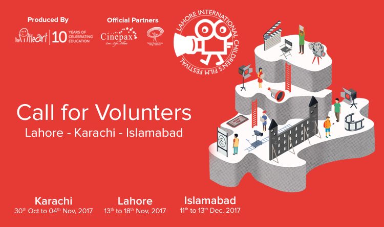 Call For Volunteers – 9th Lahore International Children's Film Festival